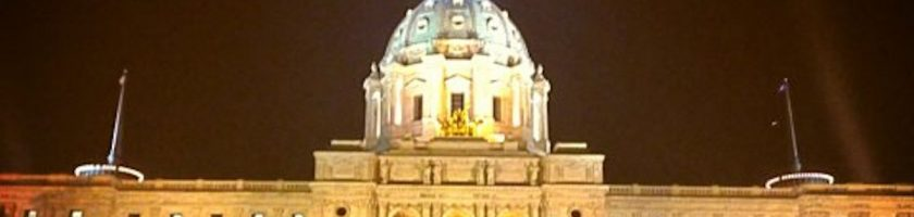 Minnesota Capitol Building at Night